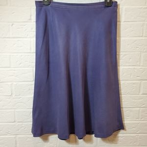 Hugo Buscati Blue Silk Mid Length Skirt Size 8